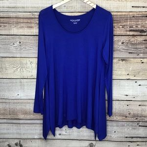 Soft Surroundings Long Sleeve Tee Tunic Petite Med